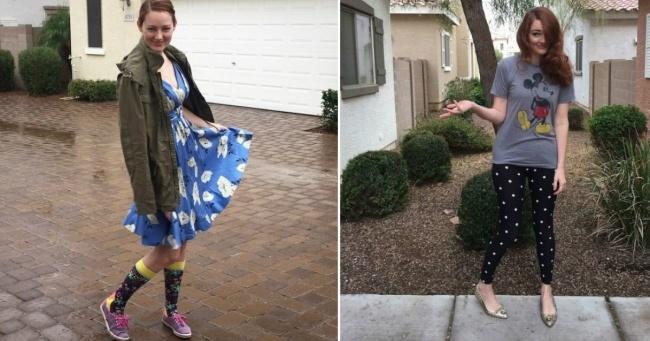 Bir hafta boyunca oğlunun tercih ettiği elbiseleri giyen anne