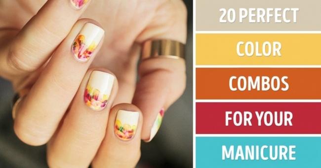 Tırnaklarınız İçin 20 Mükemmel Renk Kombinasyonları